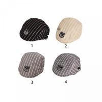 Beret Klasik Garis Topi Motif Unisex Gaya untuk