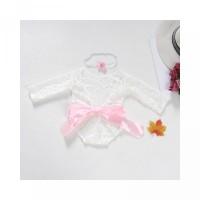 Some Lace Perempuan untuk Bayi Fotografi Lengan Romper Pendek Properti