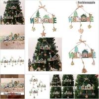 Faid Ornamen Gantungan Pintu Bahan Kayu untuk Dekorasi Pohon Natal