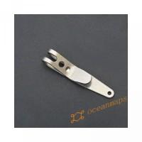 Stainless Steel EDC Money Pocket Holder Clip Belt Hanger Multi-functio