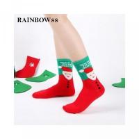 Cute Cartoon Unisex Crew Sock Christmas New Holiday Fresh Socks For
