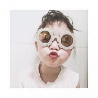 Kacamata Anak Bunga Laki-laki Hitam Permen Desain Ins Warna Perempuan