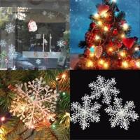 15Pcs Ornamen Desain Snowflake untuk Dekorasi Pohon Natal