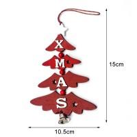 Alex0 Liontin Kalung Desain Pohon Natal Bahan Kayu untuk Dekorasi