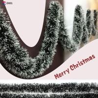 Pita Warna Hijau Putih Panjang 2m untuk Dekorasi Pohon Natal