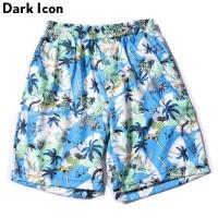 Musim Panas / Pantai Celana Pendek Pria Model Hawaii Pinggang Karet