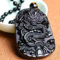 Kalung Liontin Batu Black Onix Original