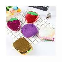 Women bag Student Strawberry Purse bag Colors tophone Sequins Round Gi