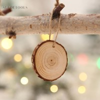 Potongan Kayu Bulat Besar untuk Dekorasi Pohon Natal