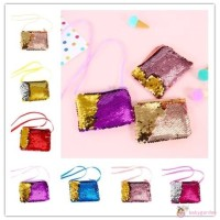 Dompet Koin Sequin Glitter untuk Anak Perempuan