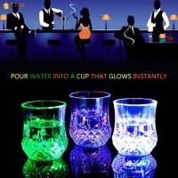 Gelas Kaca dengan Lampu LED untuk Club / Pesta