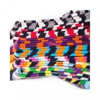 socks high socks mid contrast tide grid color gradient personality col