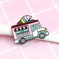 CABEZA Car Icon Enamel Metal Accessories Ice Cream Truck Icon