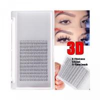 SUSHEN Premade C D 3D Volume Handmade Curls Russian Eyelashes 12 Long