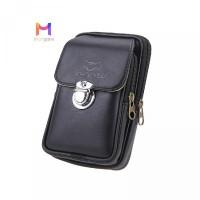Bag Ba Phone Leather Vintage PU Mo New Men Waist Vertical Fashion Zipp
