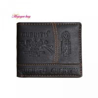 Moj Koin dengan Holder Kartu Dompet Bahan Kredit ID Kulit Bifold