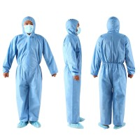 SH Ready Stock Unisex Disposable Non Woven Zip Isolation Gown