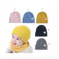 Bayi Topi Lembut Rajut Dingin Musim Kupluk Perempuan untuk Hangat Laki
