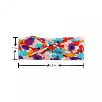 Bunga Telinga Kelinci Motif Bayi Elastis Perempuan Model Bandana untuk