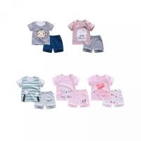 Cartoon Girls T-shirt Sleeve Boys BBWORLD Tops Shorts Summer Sets Baby