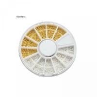 Glitter Metal Dekorasi untuk DIY Manik-manik Manicure Vvms 3D