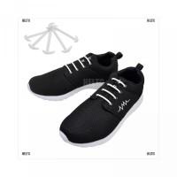 12Pcs Elastis Tali Sepatu Bahan Tanpa Ikat Silikon Helm