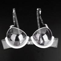 MD☆Terlihat transparan super tipis tali bahu bra plastik sekali