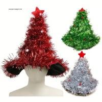 Topi Santa Claus untuk Dekorasi Pohon Natal