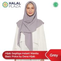 Hijab Segitiga Instant Wanita Basic Polos by Dena Hijab - Grey