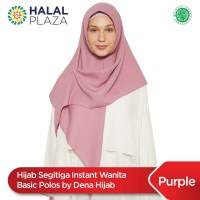 Hijab Segitiga Instant Wanita Basic Polos by Dena Hijab - Purple