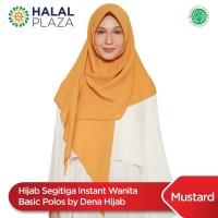Hijab Segitiga Instant Wanita Basic Polos by Dena Hijab - Mustard