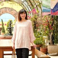 Atasan Batik Wanita Blus Batwing Modern Batik Jumbo Big -Mega mendung