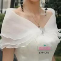 Bolero Pesta Wedding Wanita l Aksesoris Cardigan Pengantin - BPM 008 -