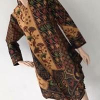 kemeja batik wanita coklat 4554 Terjamin