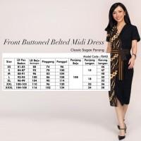 Batik Kultur Dress - FBMD - White Red Blue Rose Vines - Tulis Terjamin
