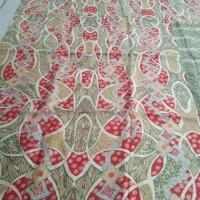 Bahan batik tulis halusan full motif oranye Terjamin