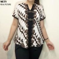Mety Top Super Jumbo - Atasan Batik Jumbo Wanita Blouse Wanita