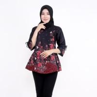 Blouse Batik Kantor Chantika / Batik IFA / Atasan Wanita Blus Terjamin