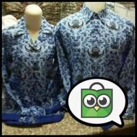 Baju Batik KORPRI - Biru, S Terjamin