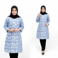 Tunik Batik batik kantoran Baju Dres batik Atasan Batik wanita soft 8