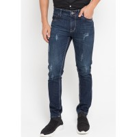 Celana Panjang Jeans Slim Fit Gargo Js006 Medium Blue
