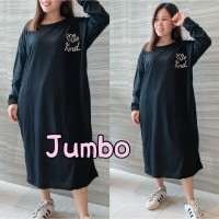 Damai fashion jakarta - long dress JUMBO wanita KIND KIND - konveksi m