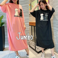 Damai fashion jakarta - long dress JUMBO wanita CATY LOVE ME - konvek