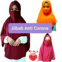 Jilbab Corona Kerudung Cadar Anti Corona Masker 2in1 Anak Bayi DA J14