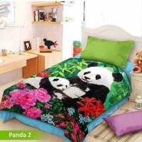 Selimut Sutera Rosana uk 150x200 motif panda 2