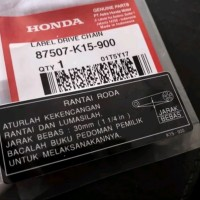 Sticker label tempelan tutup rantai Honda Tiger GL Max Pro Megapro win