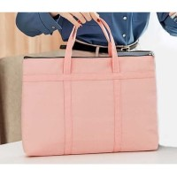 Tas Laptop/Macbook Sleeve Jinjing Women Woven Nylon 13 14 inch - pink