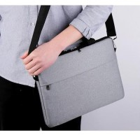 Tas Laptop Bag Selempang Sleeve Case Nylon Waterproof 13 inch - abu