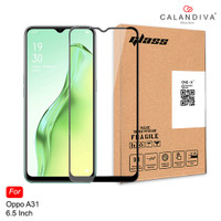 ONE-X Oppo A31 Full Cover Tempered Glass - Black