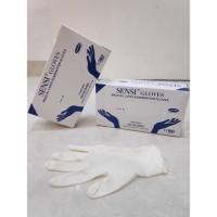 Sensi Gloves medical latex size M original HARGA PER BOX ISI 100